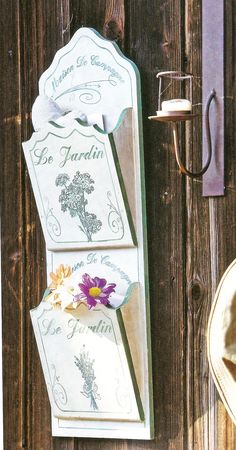 Porta cartas decorado