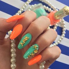 Image in Nails collection by Nikolina ∆ on We Heart It Nails Only, Love Nails, How To Do Nails, Pretty Nails, Stiletto Nails, Gel Nails, Coffin Nails, 3d Acrylic Nails, Exotic Nails