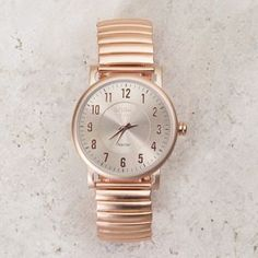 Ninette Rose Gold Stretch Watch