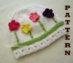 ac0aa831e52 Knitting Pattern - Hat Pattern - the POSY beanie (Newborn