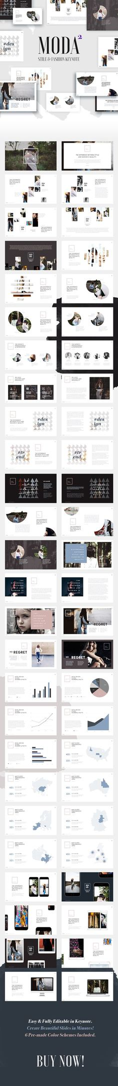 Buy Moda 2 - Fashion & Style Keynote Template by Slidehack on GraphicRiver. Whatever your presentation about, one thing's universal: you need a good looking, easy-to-understand visual presen. Web Design, Layout Design, Slide Design, Presentation Layout, Presentation Templates, Presentation Slides, Business Presentation, Fashion Portfolio Layout, Portfolio Design