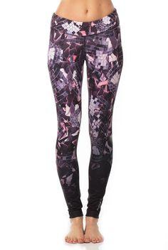 Super chic Dance Shattered Glam Tight. Shop all new Reebok at www/evolvefitwear.com