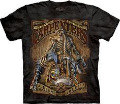 Carpenter t-shirt. 100% wood! 100% Cotton Pre-shrunk, Medium weight. Relaxed fit, Regular. Unisex, Regular. #tshirt #carpenter #woodworking #leanbrothers