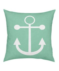 Green Anchor Pillow by ArteHouse #zulily