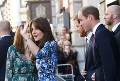Kate, Will, and Harry Link Up For a Children's Charity Event in London: Kate Middleton was joined by her husband, Prince William, and his brother, Prince Harry, for an appearance at the British Academy of Film and Television Arts' London headquarters on Monday.
