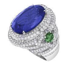 Tazanite, diamonds and tsavorite   Charles Grieg Jewellers