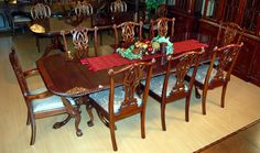 9 Piece Chippendale Dining Set