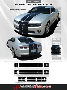 Vehicle Specific Style Chevy Camaro Pace Rally OEM Factory Style Indy Pace Car Racing and Rally Stripes Kit for the 2010-2015 Models Year Fitment 2010 2011 2012