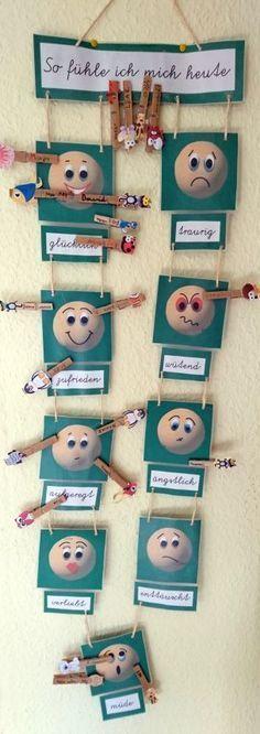 Wie wir alle wissen, beeinflusst die Stimmung das Lernen. Ich möchte euch heute mein Gefühlsbarometer zur Erfassung der Gefühlslagen der Kinder vorstellen: