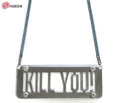 ADEEN NYC (エディーン) KILL YOU! NECKLACE (BLACK MIRROR) [ネックレス/アクリル] [ブラック]【楽天市場】