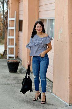 Topshop Gingham Top - My Style Vita - Gingham Sleeves