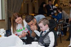 Colin Farrell meeting families affected by Mitochondrial Disease