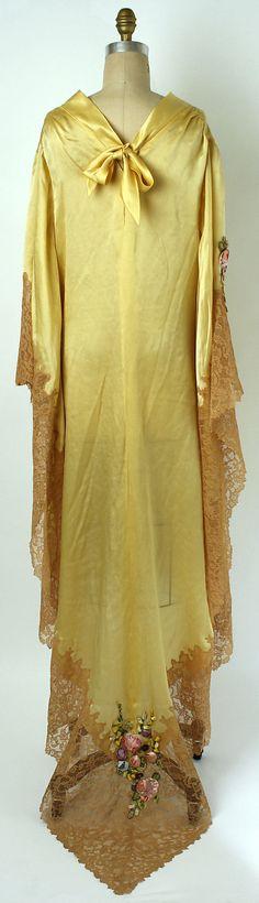 1920s Boue Soeurs, Silk, cotton, acetate negligée - The Metropolitan Museum of Art