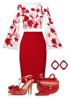 Giorgio Armani, Roland Mouret, Charlotte Olympia, Chloé, Occasionally Made. Stylish Work Outfits, Summer Work Outfits, Classy Outfits, Winter Outfits, Casual Outfits, Lila Outfits, Mode Outfits, Red Skirt Outfits, Party Outfits
