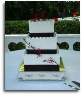 3-Tier wedding cake by Windy City Cakery