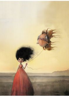 En fisk til Luna 80 Lisa, Science Fiction, Illustrators, Fantasy Art, Horror, Pure Products, Digital, Drawings, Whimsical Art