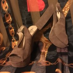 Gorgeous camel chunky heels in soft perfect suede No damage like new! Worn lightly Wild rose Shoes Heels