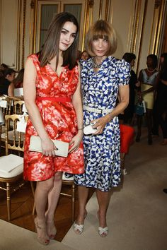 Anna Wintour and her daughter Bee Shaffer attend the Giambattista Valli Haute-Couture Show as part of Paris Fashion Week Fall / Winter 2013 on July 2, 2012 in Paris, France.  Sip With Socialites  http://sipwithsocialites.com/