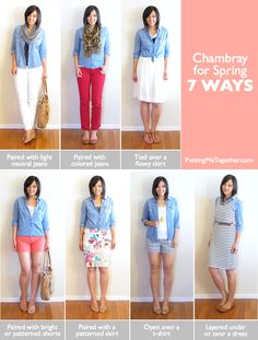 How to Wear Chambray for Spring - 7 Ways
