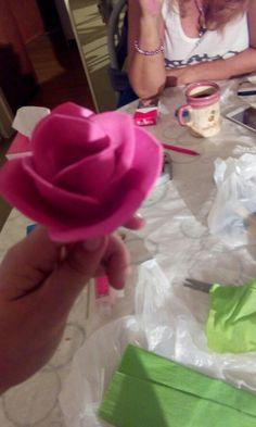 flor de  goma a Eva