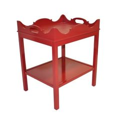 Oomph, Charleston Side Table, a new take on the old butlers tray. so chic.
