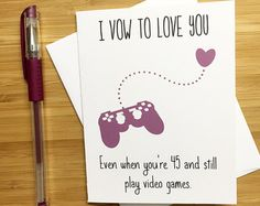 Cute Love Card for Video Game Lovers, Happy Anniversary Card, Love Greeting Cards, Romantic Card, Valentine's Day Card for Boyfriend Funny Valentine, Valentine Day Cards, Valentines Diy, Birthday Wishes For Boyfriend, Boyfriend Anniversary Gifts, Diy Gifts For Boyfriend, Valentines Day Gifts For Him Boyfriends, Diy Projects For Boyfriend, Diy Anniversary Gifts For Him