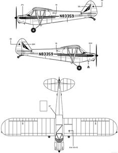 Essential Factors In Model Planes - A Background - Hob Top Joy Piper J3 Cub, Pilot Tattoo, Kit Planes, Homemade Go Kart, Piper Aircraft, Airplane Drawing, Bush Plane, Airplane Design, Aircraft Design