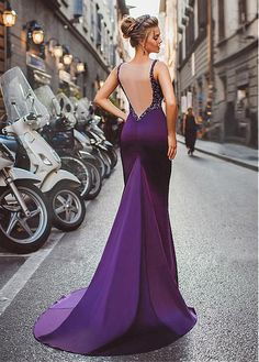 Buy discount Winsome Tulle & Acetate Jewel Neckline Satin Mermaid Evening Dresses With Beadings at Dressilyme.com