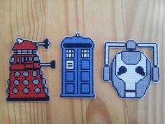 Doctor Who cross stitch magnets/ornaments