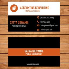 Accountant Business Card Microsoft Publisher