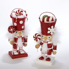 peppermint nutcrackers (not sure why they have pails on their heads)