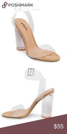 Kim Kardashian inspired Clear Heeled sandals Excellent condition. Worn twice. Yeezy inspired Lulu's Shoes