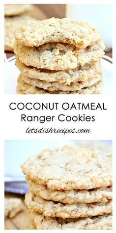 Oatmeal Coconut Ranger Cookies Recipe | If you like cowboy cookies, you'll love these!