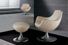 Modern white chair fit to small space outdoorwickerfurniture Space Furniture, Furniture Layout, White Furniture, Unique Furniture, Custom Furniture, Contemporary Furniture, Furniture Design, Furniture Ideas, Outside Cushions