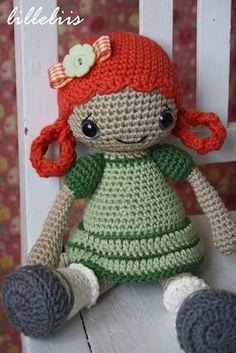 lilleliis.blogspot.com: Mirjam - heegeldatud nukk/amigurumi doll