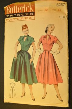 One Piece Dress Vintage 1950s Sewing by ClassicCabin on Etsy, $33.98 via @FakeErinMcKean