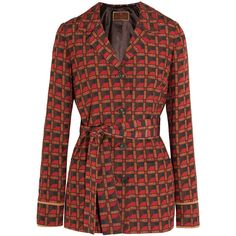 Etro Printed silk-blend crepe jacket (156.140 RUB) via Polyvore featuring outerwear, jackets и etro