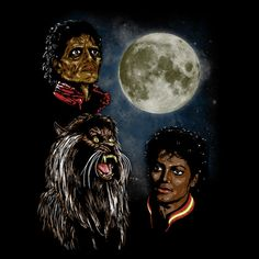 Michael Jackson: #Thriller / Three Wolf Moon mashup t-shirt.