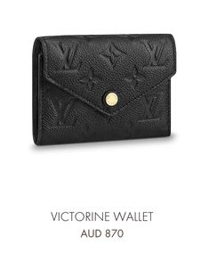 bfc16468c35e LV Victorine wallet in black Louis Vuitton Australia, Small Wallet, Small  Leather Goods,