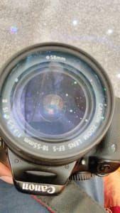 Lights on lens..