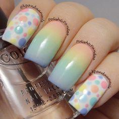 Rainbow nails by kpandaanails