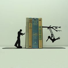 Swinging Metal Art Bookends - Free USA Shipping