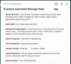 Actually Benedict Cumberbatch already knows about johnlock. Castiel, Supernatural Fandom, Sam Dean, Johnlock, Martin Freeman, My Tumblr, Tumblr Posts, Benedict Cumberbatch, Superwholock