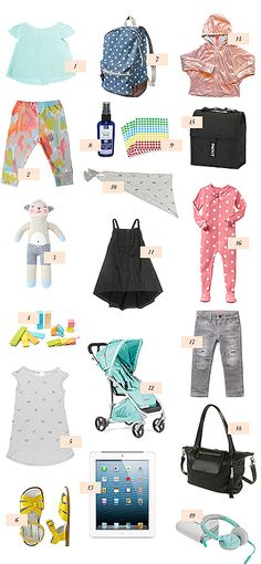 travel packing list for toddlers!
