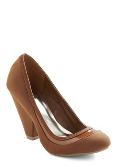 It's Never Too Latte Heel   Mod Retro Vintage Heels   ModCloth.com