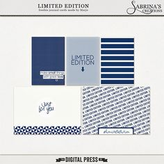 Quality DigiScrap Freebies: Limited Edition journal cards freebie from Sabrina's Creations