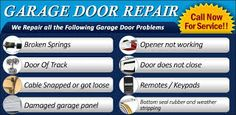 These are some of the services we offer you  SEATTLE GARAGE DOOR REPAIR