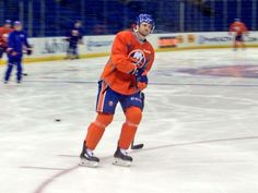 Brett Gallant will be making his NHL debut tonight 4.8.14 against the Ottawa Senators, here he is in his first Islanders Morning Skate!
