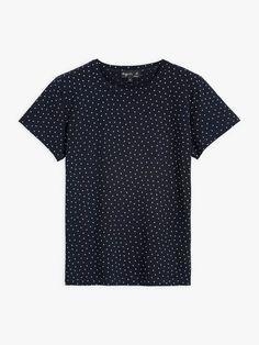 t-shirt brando bleu marine à pois | agnès b. Bleu Marine, Polka Dot Top, T Shirt, Collection, Tops, Women, Fashion, Woman, Supreme T Shirt
