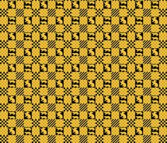 Hufflepuff quidditch  fabric by bitterfishies on Spoonflower - custom fabric